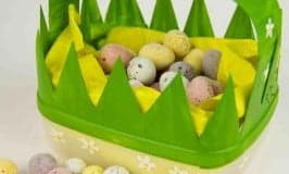 Milk Jug Easter Baskets. A fun recycled craft for kids.