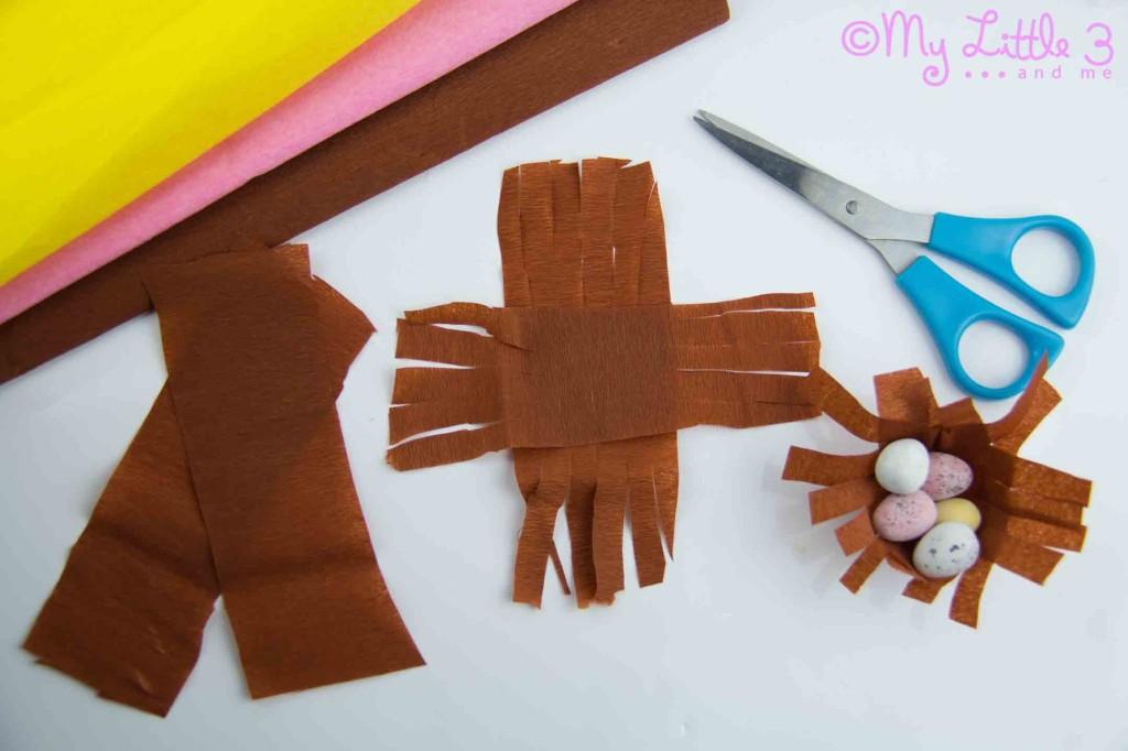 Cesta de Páscoa Ninhos-Preparando Mini Ninhos de Páscoa