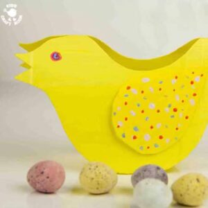 Cute Rocking Chick - a fun recycled Easter craft for kids.