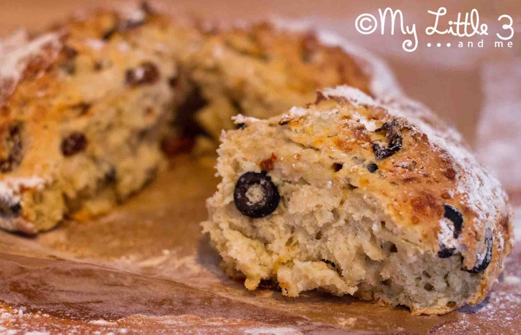 Soda Bread With Olives, Cheese And Sundried Tomatoes