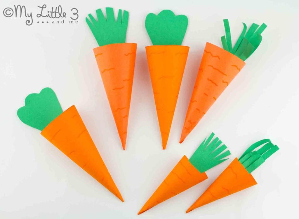 Cestas de Páscoa bonito cenoura