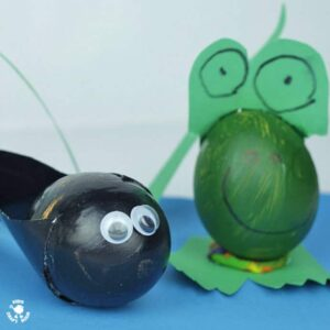 Egg Decorating - Make a tadpole and frog ponds scene.jpg