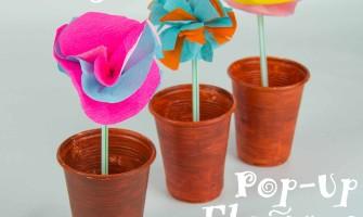 Magic Pop Up Flowers, a Mary Mary Quite Contrary Nursery Rhyme Craft