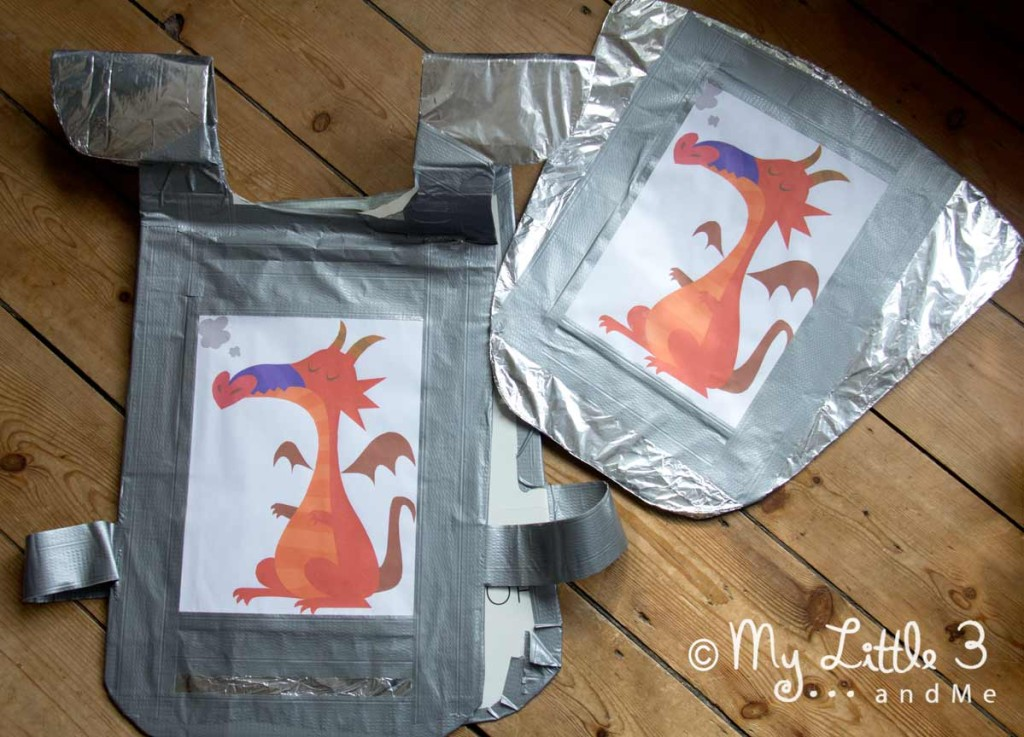 Make a Cardboard Armour and Shield Set great for imaginative play.