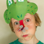 Paper Plate Frog Mask