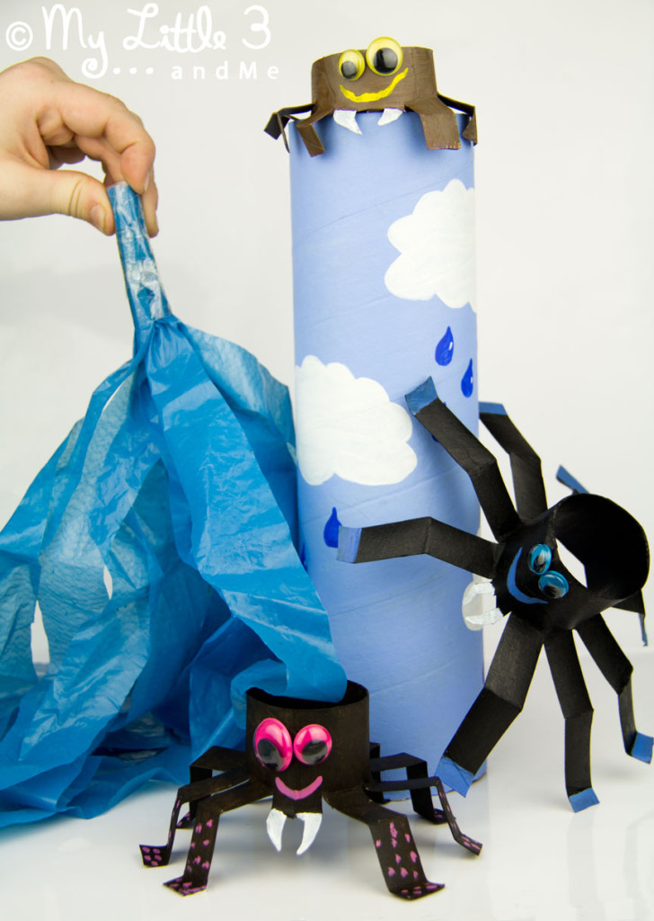 Make an Incy Wincy Spider Play Set - a cute nursery rhyme craft to bring the song to life.