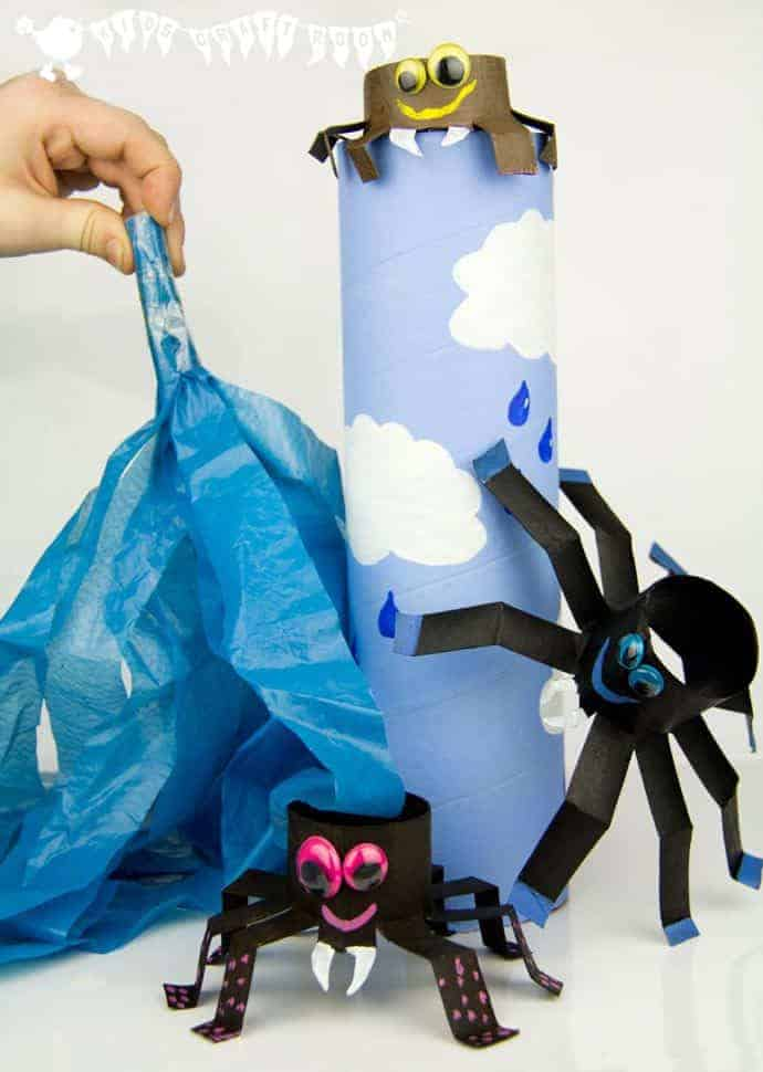 Itsy Bitsy Spider Play Set - easy to make and great for bringing the nursery rhyme to life.
