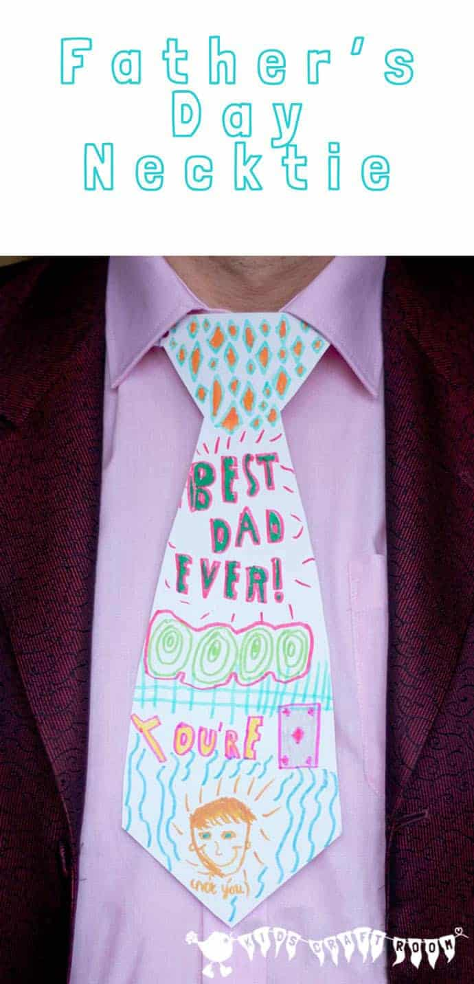 Fathers Day Craft Personalised Necktie