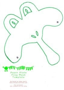 Printable Frog Mask Template  sc 1 st  Kids Craft Room & Frog Mask (animal mask)