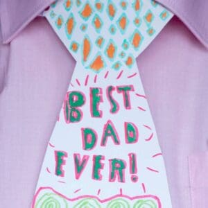 Personalised Neckties is a fun Father's Day Craft for children of all ages. Every Dad will love this Father's Day gift idea.