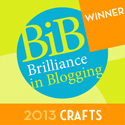 Thankyou to everyone who voted to make My Little 3 and Me Best Craft Blog BiB Award Winner at BritMums Live 2013