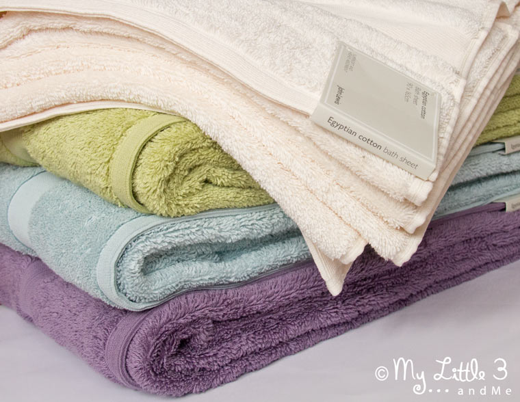 John Lewis Bath Sheet Review - they have a great range of colours.