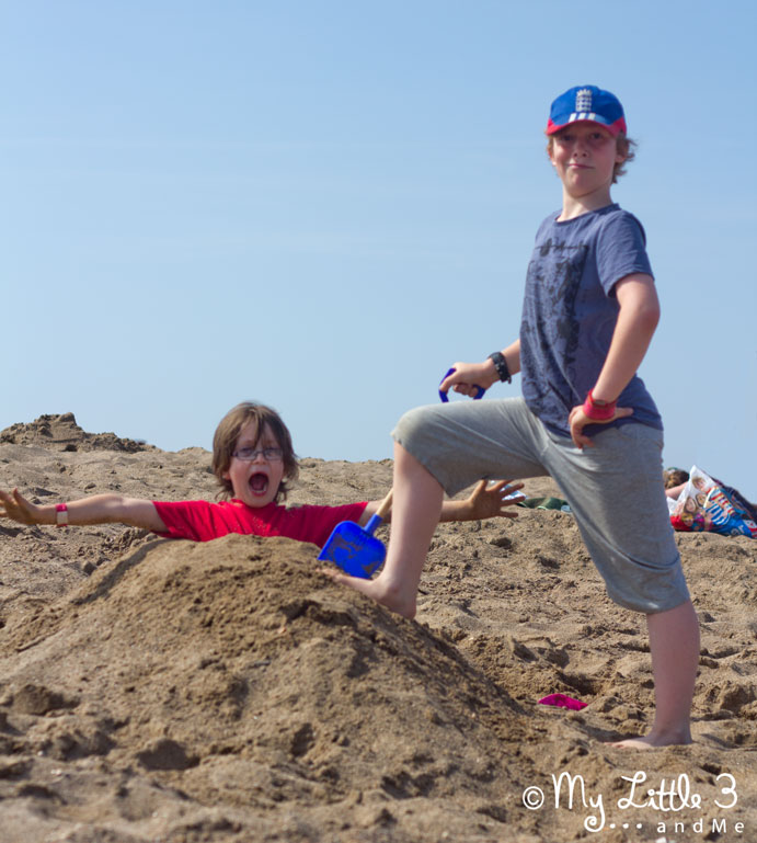 We've had such a great time at Butlins. This is the way to bury your little brother! From My Little 3 and Me.