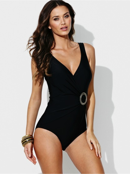 Tummy Control Panel Swimsuit From Littlewoods