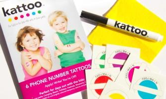 Kattoo Temporary Phone Number Tattoos