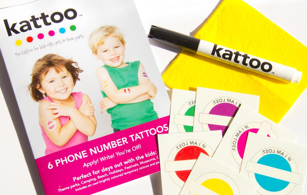 Kattoo Temporary Tattoo Free Prize Draw Giveaway