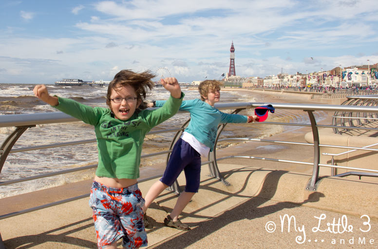 We loved the windy beach - A review of our Blackpool holiday from My Little 3 and Me