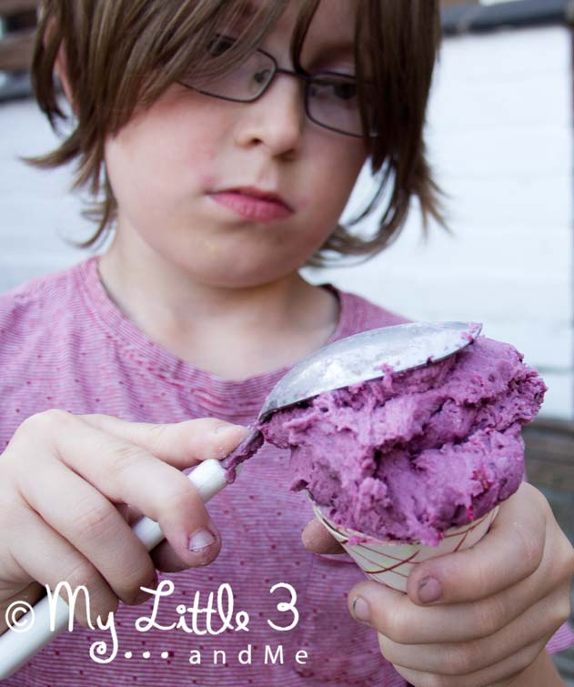 Easy No Cook Berry Play Dough - great for ice cream pretend play.