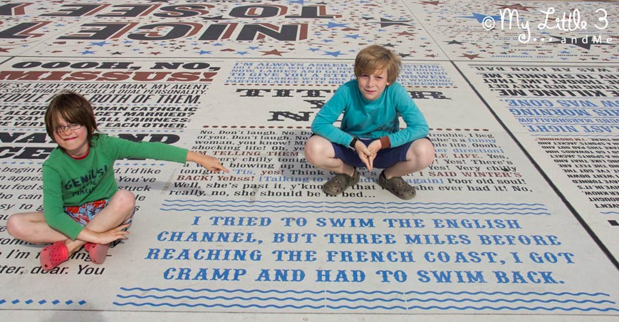 Blackpool's Comedy-Carpet - A review of our Blackpool holiday from My Little 3 and Me
