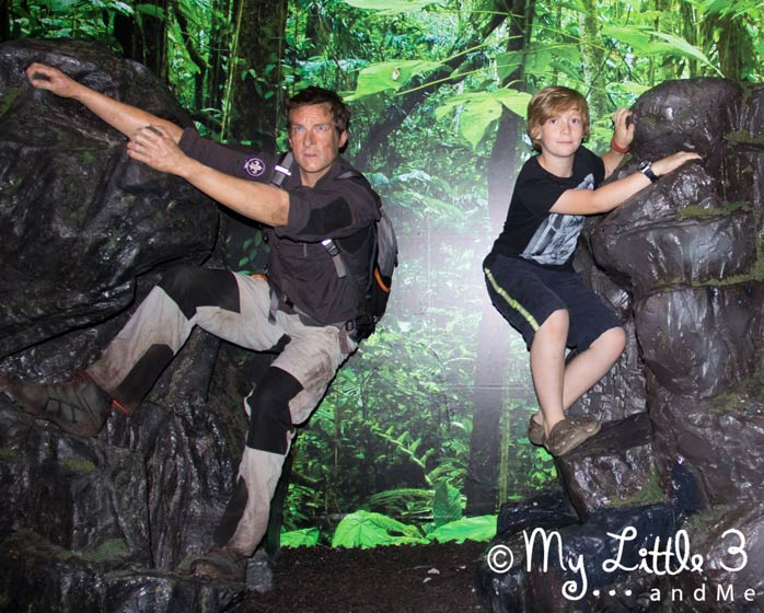 Hanging-Around-With-Bear-Grylls at Madame Tussaud's -A review of our Blackpool holiday from My Little 3 and Me