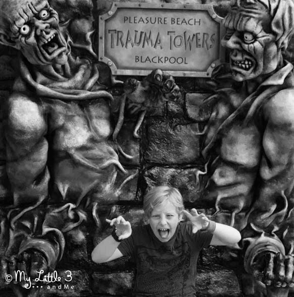 Pleasure-Beach-Monsters -A review of our Blackpool holiday from My Little 3 and Me