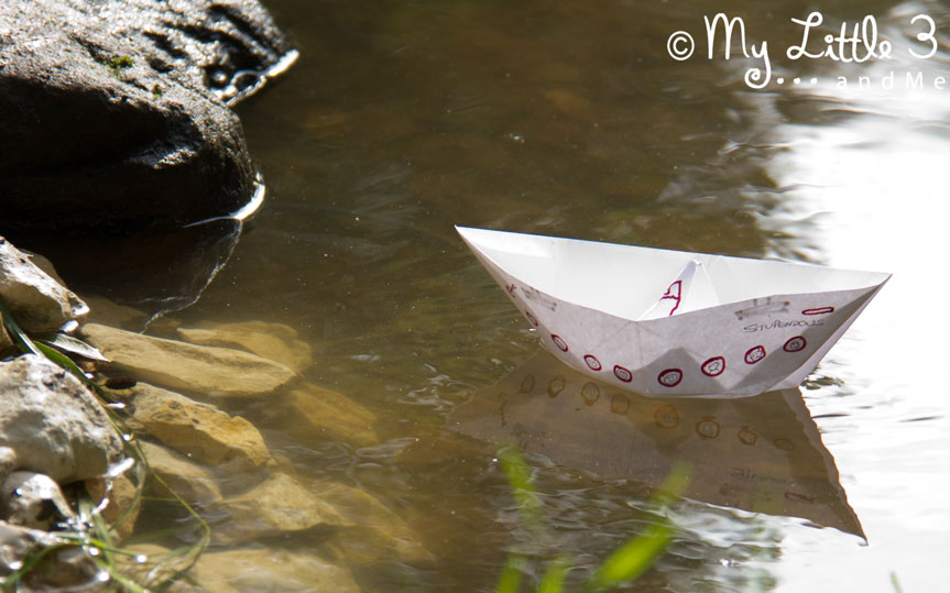 How To Make A Paper Boat - video tutorial by My Little 3 and Me
