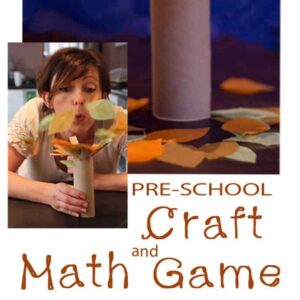 Make a fun and simple Fall Craft and Math Game for pre-schoolers.