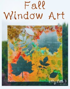 Fall art window Painting a simple and pretty activity from My Little 3 and Me