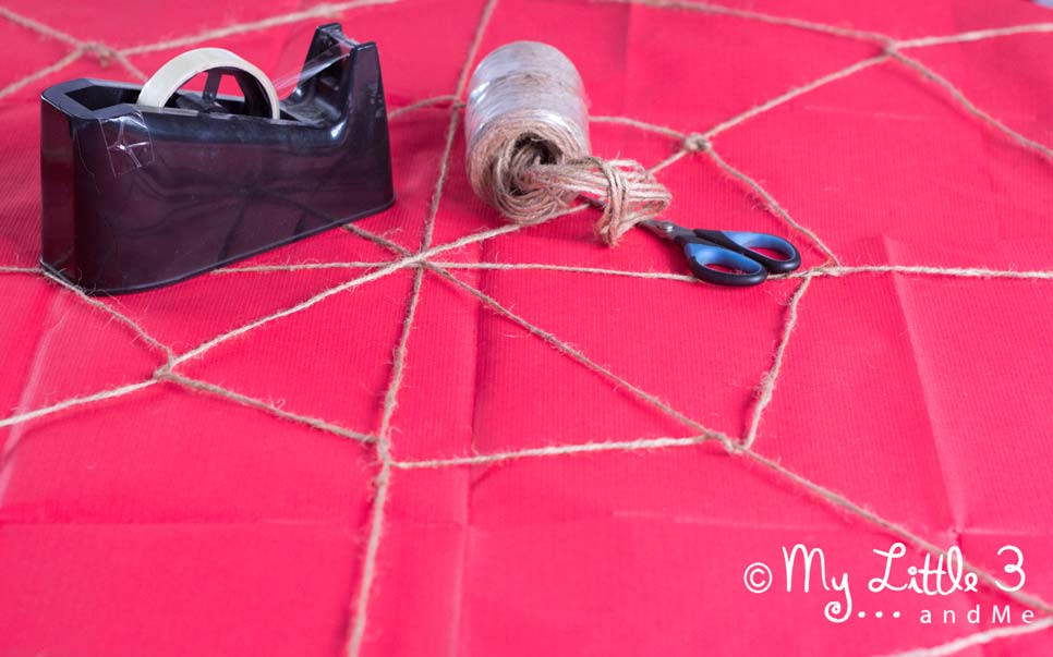 Make GIANT spider decoration for Halloween. Super cute and recycled too! From My Little 3 and Me.