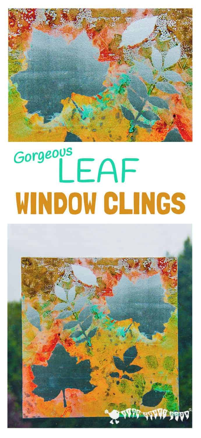 FALL LEAF ART - Make removable window paintings/window clings. A beautiful Fall leaf craft activity that captures the Nature's magic and brings all the beautiful colours inside.