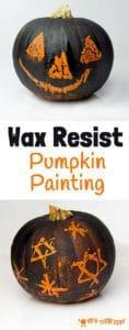 Wax Resist – Pumpkin Carving Alternative