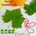 Autumn Crafts For Toddlers – Leaf Sewing