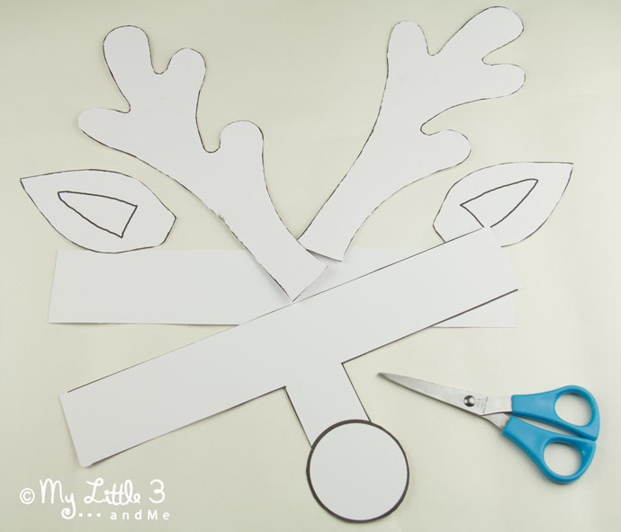 rudolph antlers template - printable reindeer antlers to colour and wear kids