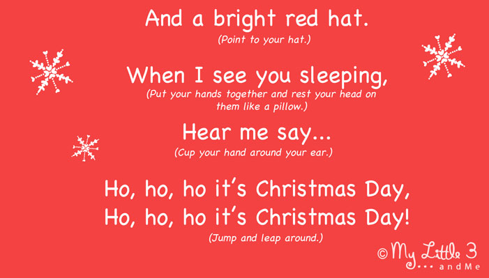 "Don't just craft, SING! ""I am Santa Claus"" a jolly Christmas action song for kids from My Little 3 and Me (lyrics part 2)"