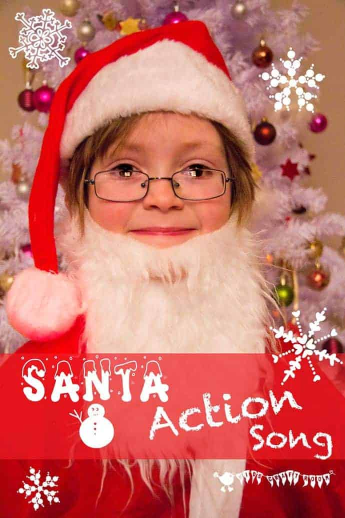 "Here's a jolly Christmas action song for kids. ""I am Santa Claus."""