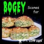 Make Mouldy Bogey Scones, a fun snack for a healthy Halloween.