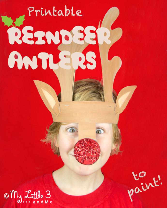 Reindeer Antler Template Headband | Beautiful Scenery Photography