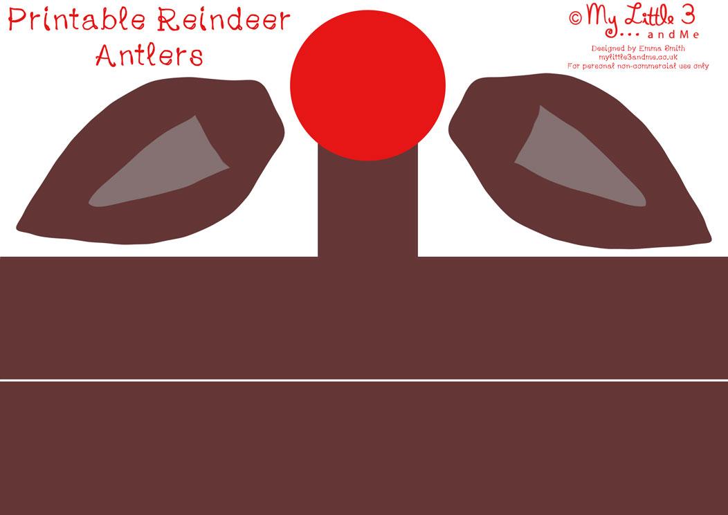 ... , Reindeer Antlers Template Free Printable Reindeer antlers christmas