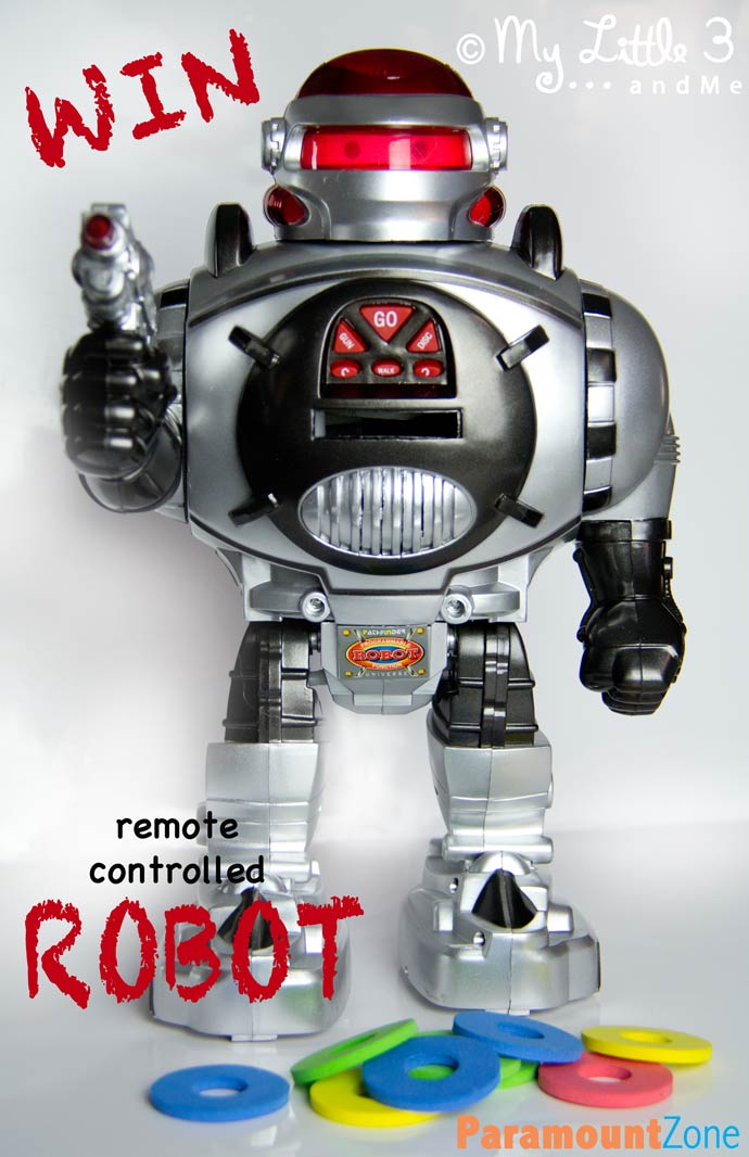 Win a fantastic Remote Controlled Robot via My Little 3 and Me.