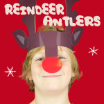 Reindeer Antlers Christmas Headband – Free Colour Printable