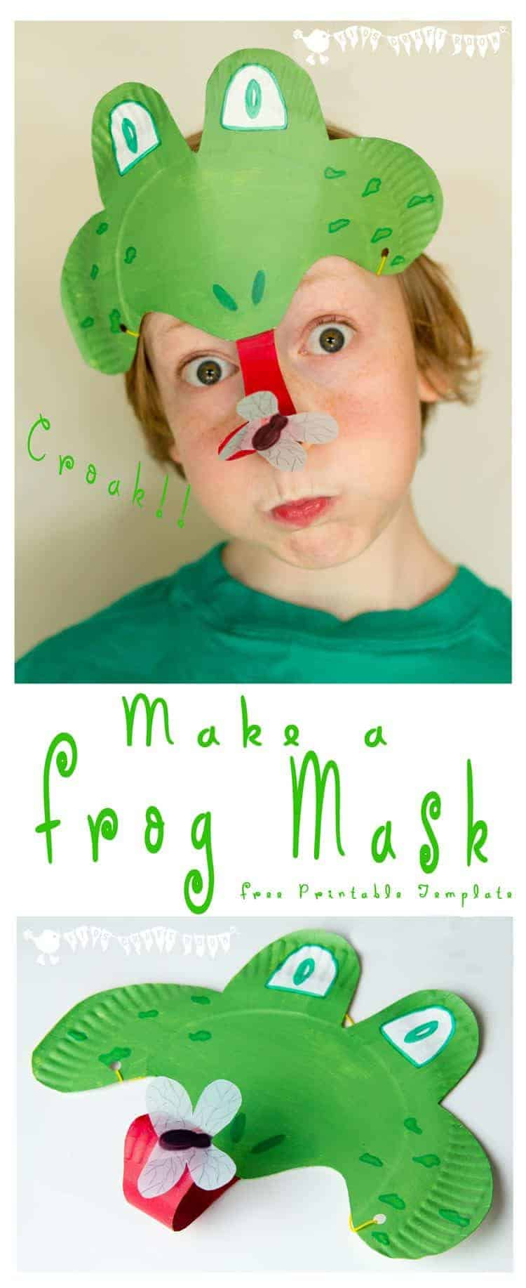 Make a Paper Plate Frog Mask - catching flies with its curly tongue! CROAK!  sc 1 st  Kids Craft Room & Frog Mask (animal mask)