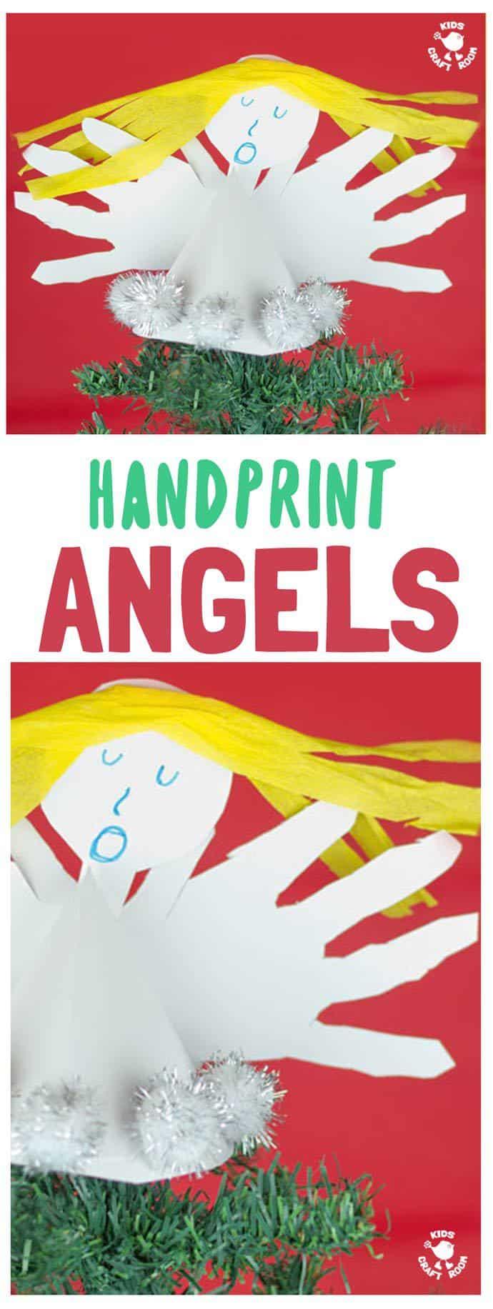 Handprint Angel Craft pin image