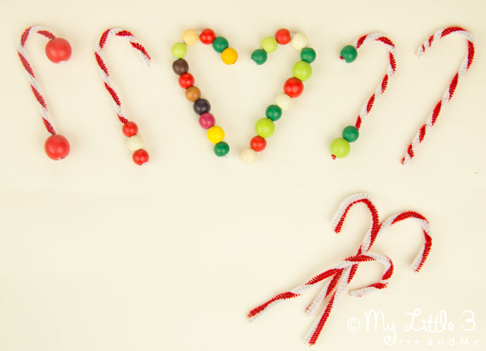 Candy Cane Tree Decorations - an easy Christmas craft for kids.