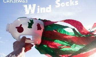Simple Christmas Craft for Kids - Christmas Wind Socks