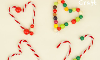 Candy Canes - an easy Christmas craft for kids from My Little 3 and Me