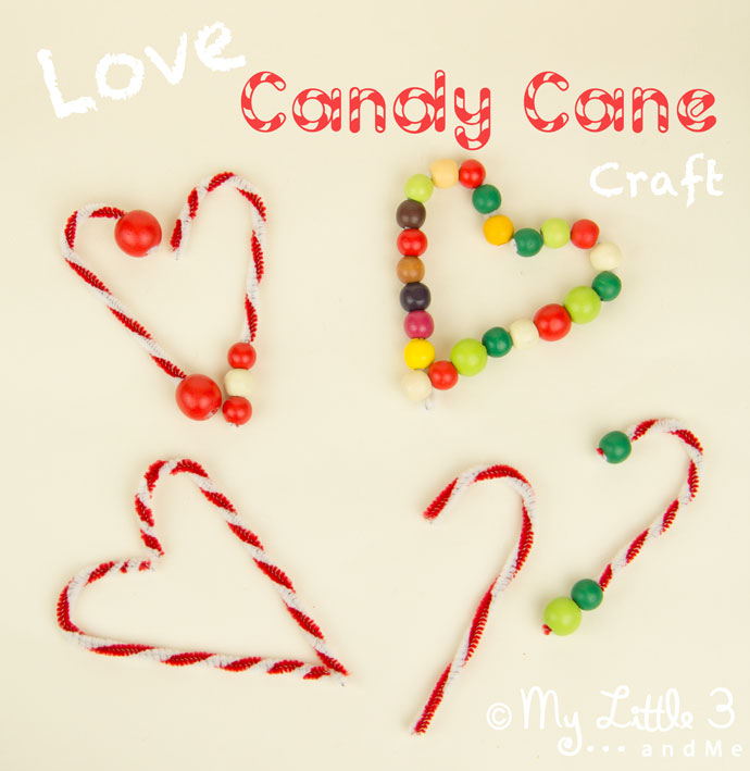 Candy Cane Tree Decorations - an easy Christmas craft for kids from My Little 3 and Me
