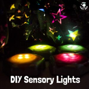 Homemade Sensory Play Lights