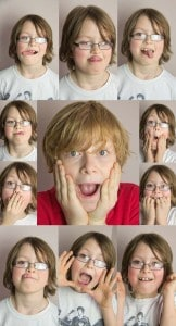 Collage of children's faces
