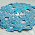 Frosted Snowflake Craft For Kids