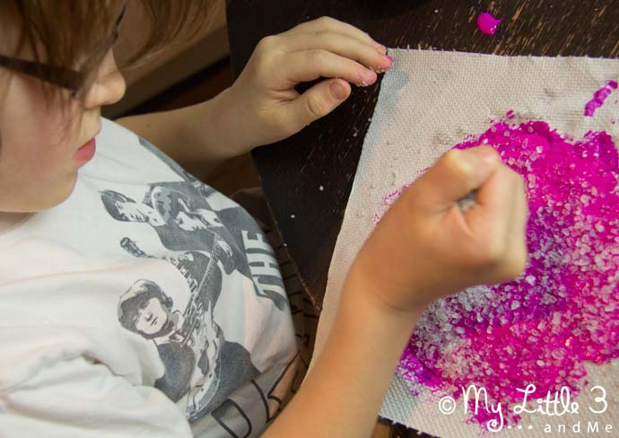 A simple Frosted Snowflake Craft for kids.